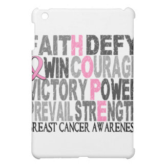 Hope Word Collage Breast Cancer iPad Mini Cases