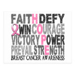 Hope Word Collage Breast Cancer Postcard