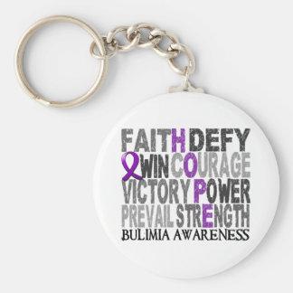 Hope Word Collage Bulimia Keychain