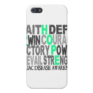 Hope Word Collage Celiac Disease Case For iPhone 5/5S