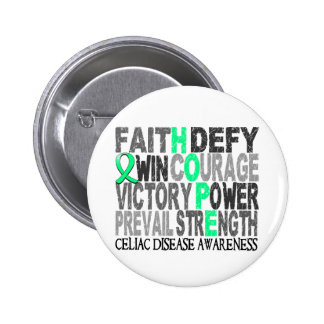 Hope Word Collage Celiac Disease Pinback Button