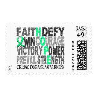Hope Word Collage Celiac Disease Postage Stamps