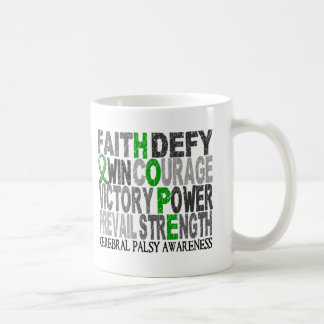 Hope Word Collage Cerebral Palsy Classic White Coffee Mug