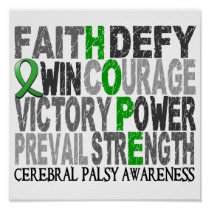 Hope Word Collage Cerebral Palsy Poster