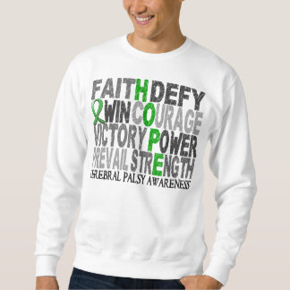 Hope Word Collage Cerebral Palsy Pull Over Sweatshirts