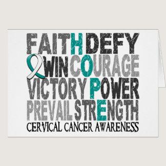 Hope Word Collage Cervical Cancer Card