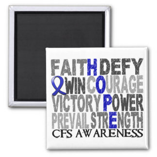 Hope Word Collage CFS Fridge Magnet