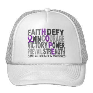Hope Word Collage Chiari Malformation Trucker Hat