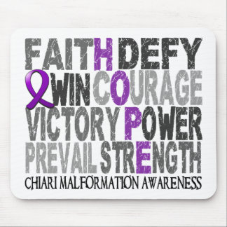 Hope Word Collage Chiari Malformation Mouse Pad