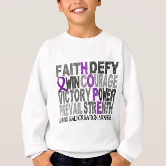 Hope Word Collage Chiari Malformation Sweatshirt