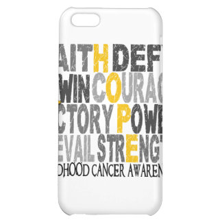 Hope Word Collage Childhood Cancer Cover For iPhone 5C