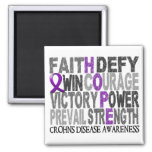 Hope Word Collage Crohn's Disease 2 Inch Square Magnet