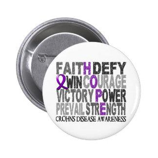 Hope Word Collage Crohn's Disease Button