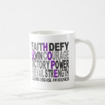 Hope Word Collage Crohn's Disease Coffee Mug