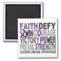 Hope Word Collage Crohn's Disease Magnet