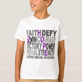 Hope Word Collage Crohn's Disease T-Shirt
