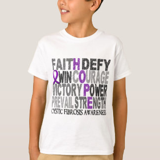 Hope Word Collage Cystic Fibrosis T-Shirt
