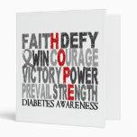 Hope Word Collage Diabetes 3 Ring Binders