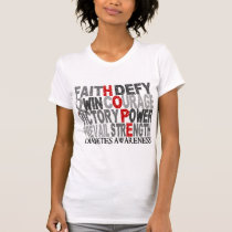 Hope Word Collage Diabetes T-Shirt