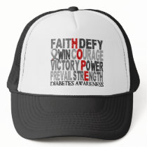 Hope Word Collage Diabetes Trucker Hat