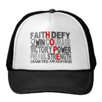 Hope Word Collage Diabetes Trucker Hat