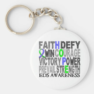 Hope Word Collage EDS Keychain
