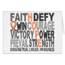 Hope Word Collage Endometrial Cancer Card