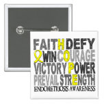 Hope Word Collage Endometriosis Buttons