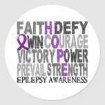 Hope Word Collage Epilepsy Classic Round Sticker