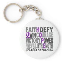Hope Word Collage Epilepsy Keychain