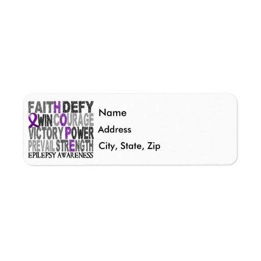 Hope Word Collage Epilepsy Return Address Labels