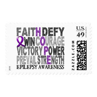 Hope Word Collage Epilepsy Postage