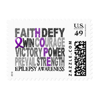 Hope Word Collage Epilepsy Stamps
