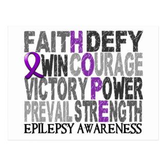 Hope Word Collage Epilepsy Postcard