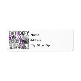 Hope Word Collage Epilepsy Return Address Label