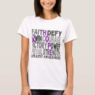 Hope Word Collage Epilepsy T-Shirt