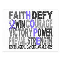 Hope Word Collage Esophageal Cancer Postcard