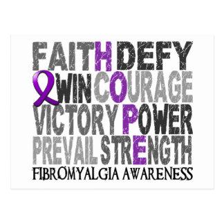 Hope Word Collage Fibromyalgia Postcard