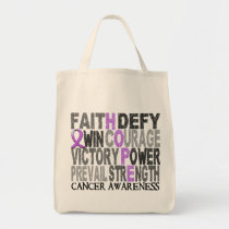 Hope Word Collage General Cancer Tote Bag