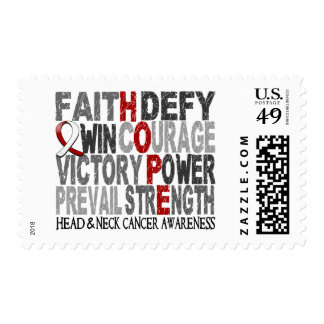 Hope Word Collage Head Neck Cancer Postage Stamps