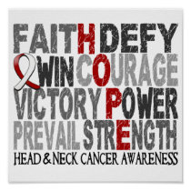 Hope Word Collage Head Neck Cancer Poster