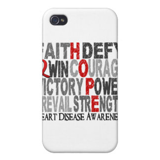 Hope Word Collage Heart Disease iPhone 4/4S Covers