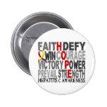 Hope Word Collage Hepatitis C Pins