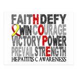 Hope Word Collage Hepatitis C Postcards