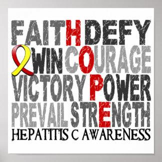 Hope Word Collage Hepatitis C Poster