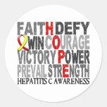 Hope Word Collage Hepatitis C Round Sticker