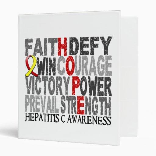 Hope Word Collage Hepatitis C Vinyl Binder