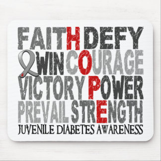 Hope Word Collage Juvenile Diabetes Mouse Pad