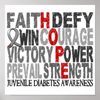 Hope Word Collage Juvenile Diabetes Poster