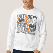 Hope Word Collage Kidney Cancer Sweatshirt